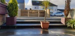 Outside decking parklet